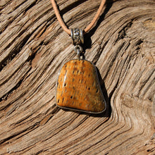 Load image into Gallery viewer, Petrified Palm Cabochon and Sterling Silver Pendant (SSP 1092)
