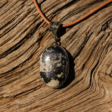 Load image into Gallery viewer, Silver Ore in Quartz Cabochon and Sterling Silver Pendant (SSP 1106)