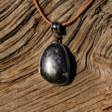 Load image into Gallery viewer, Silver Ore in Quartz Cabochon and Sterling Silver Pendant (SSP 1107)
