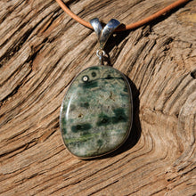 Load image into Gallery viewer, Ocean Jasper Cabochon and Sterling Silver Pendant (SSP 1108)