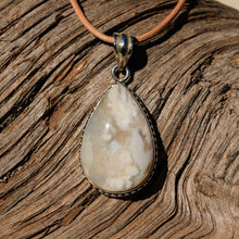 Load image into Gallery viewer, Agate (Plume) Cabochon and Sterling Silver Pendant (SSP 1112)