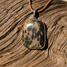 Load image into Gallery viewer, Orbicular Jasper Cabochon and Sterling Silver Pendant (SSP 1122)