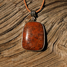 Load image into Gallery viewer, Spider Web Jasper and Sterling Silver Pendant (SSP 1133)
