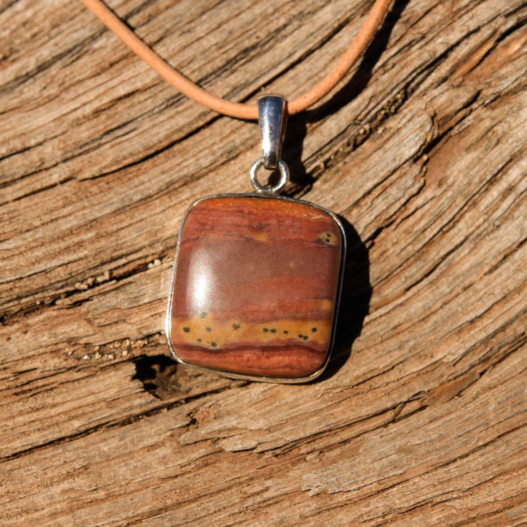 Sedona Sunrise (tm) and Sterling Silver Pendant (SSP 1147)