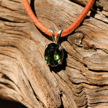 Load image into Gallery viewer, Moldavite and Sterling Silver Pendant (SSP 1153)