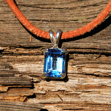 Load image into Gallery viewer, Blue Topaz and Sterling Silver Pendant (SSP 1156)