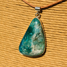 Load image into Gallery viewer, Chrysocolla Druzy (Gem Silica) Cabochon and Sterling Silver Pendant (SSP 1164)