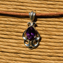 Load image into Gallery viewer, Amethyst and Sterling Silver Pendant (SSP 1166)