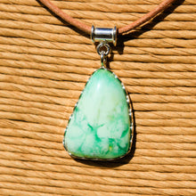 Load image into Gallery viewer, Chrysoprase Cabochon and Sterling Silver Pendant (SSP 1168)