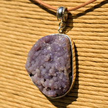 Load image into Gallery viewer, Grape Chalcedony Cabochon and Sterling Silver Pendant (SSP 1178)