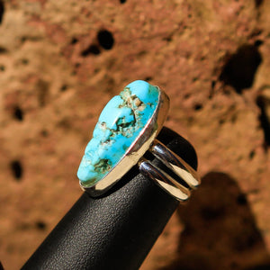 Turquoise Cabochon and Sterling Silver Ring (SSR 1002)