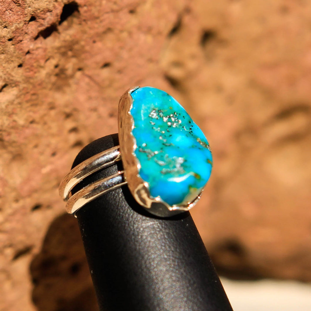 Turquoise Cabochon and Sterling Silver Ring (SSR 1003)