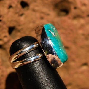 Turquoise Cabochon and Sterling Silver Ring (SSR 1006)