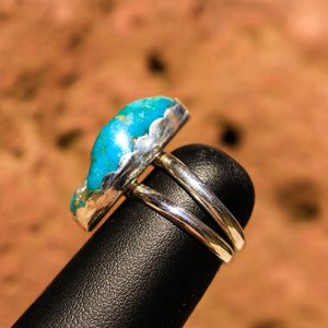 Turquoise Cabochon and Sterling Silver Ring (SSR 1007)