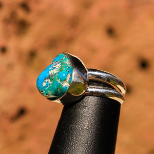 Turquoise Cabochon and Sterling Silver Ring (SSR 1008)