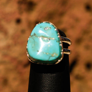 Turquoise Cabochon and Sterling Silver Ring (SSR 1009)