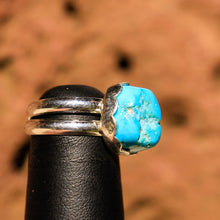 Load image into Gallery viewer, Turquoise (Sleeping Beauty) Cabochon and Sterling Silver Ring (SSR 1014)