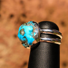 Load image into Gallery viewer, Turquoise Cabochon and Sterling Silver Ring (SSR 1017)