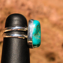 Load image into Gallery viewer, Turquoise Cabochon and Sterling Silver Ring (SSR 1019)