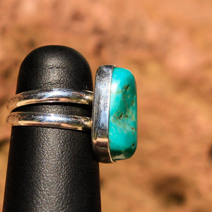 Turquoise Cabochon and Sterling Silver Ring (SSR 1019)