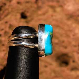 Turquoise Cabochon and Sterling Silver Ring (SSR 1021)