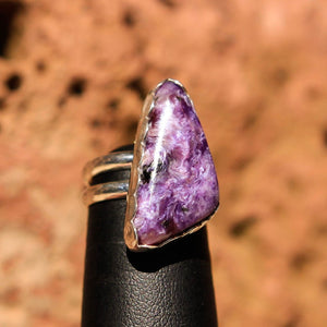 Sugilite and Sterling Silver Ring (SSR 1029)