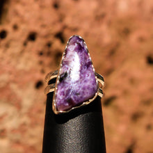 Load image into Gallery viewer, Sugilite and Sterling Silver Ring (SSR 1029)