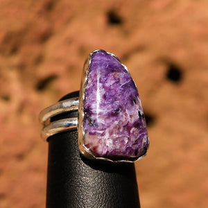 Sugilite and Sterling Silver Ring (SSR 1030)