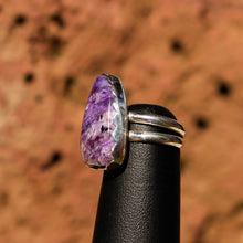 Load image into Gallery viewer, Sugilite and Sterling Silver Ring (SSR 1030)