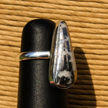 Load image into Gallery viewer, Silver Ore in Quartz Cabochon and Sterling Silver Ring (SSR 1037)