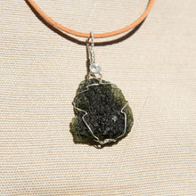 Load image into Gallery viewer, Moldavite and Sterling Silver Wire Wrap Pendant (SSWW 1002)
