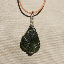 Load image into Gallery viewer, Moldavite and Sterling Silver Wire Wrap Pendant (SSWW 1003)