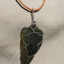 Load image into Gallery viewer, Moldavite and Sterling Silver Wire Wrap Pendant (SSWW 1008)