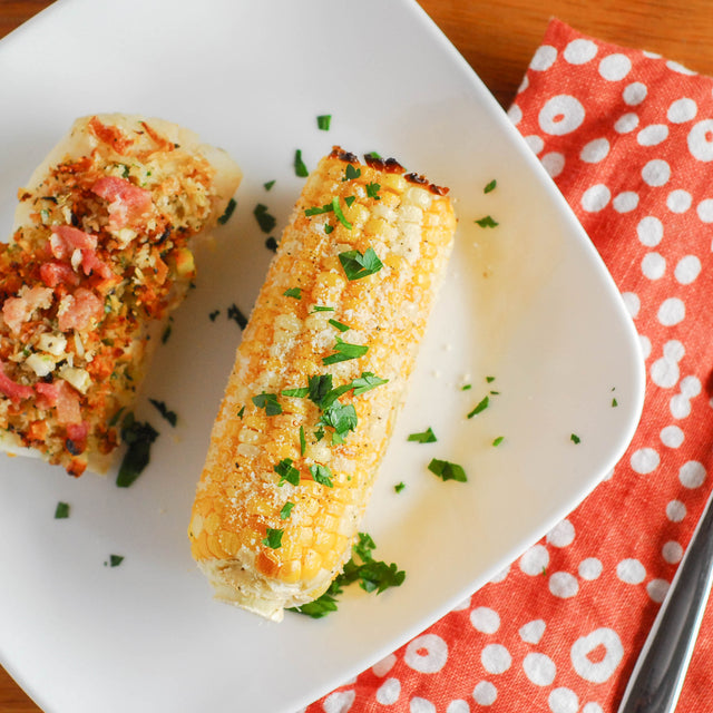 Roasted Corn on the Cob with Parmesan