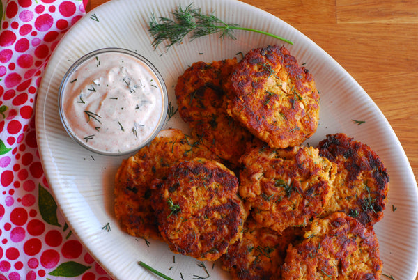 Sweet Potato Salmon Cakes from Fishpeople Seafood