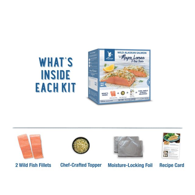 Meyer Lemon & Herb Panko Wild Alaskan Salmon Kit