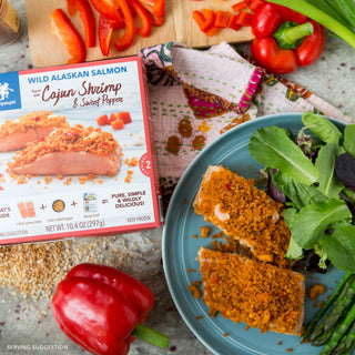 Cajun Shrimp & Sweet Pepper Wild Alaskan Salmon Kit