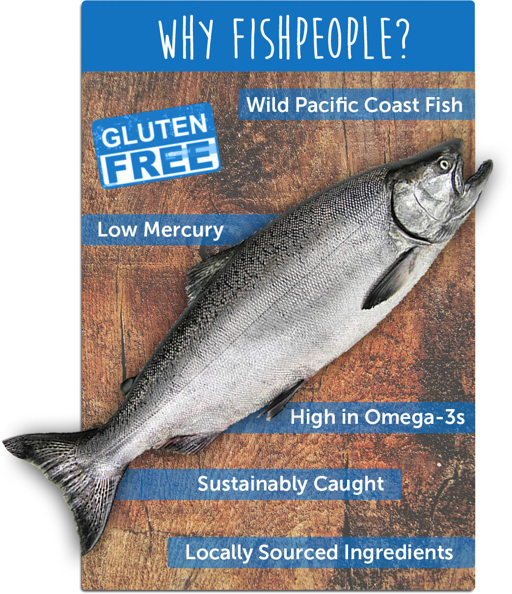 Gluten Free, Wild Pacific Coast Fish, Low Mercury, High in Omega-3s, Sustainably Caught, and Locally Sourced Ingredients