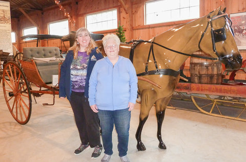June and Eleda at Skyline Farm Museum