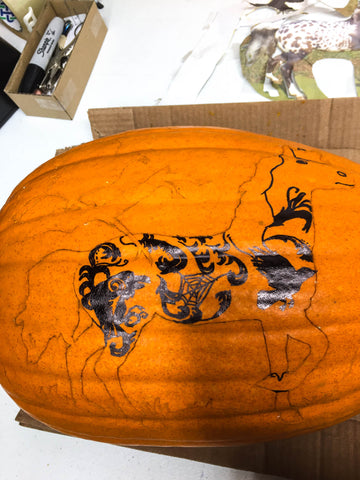 Triple Mountain Halloween Horse Pumpkin 2018 Nevermore - pattern complete