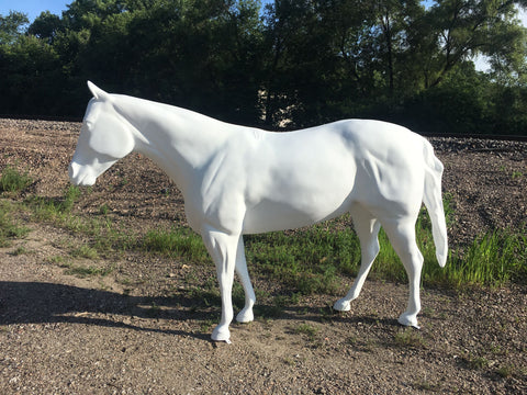 QH Mare by fiberglassanimals.com for Triple Mountain Model Horses