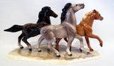 Hagen Renaker Wild Horses on Base