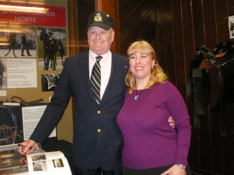 Eleda Towle of Triple Mountain with Andy Carlson, who led Black Jack during JFK's funeral