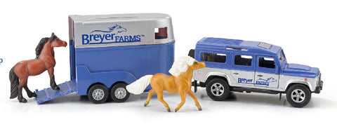 Breyer Land Rover & Tag-Along Trailer with Horses at Triple Mountain