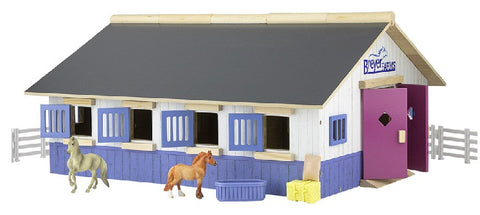 Breyer Farms Stablemates Stable Play Set with 2 Horses at Triple Mountain