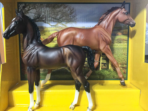 Breyer Best of British Foal Set Hackney and Thoroughbred at Triple Mountain