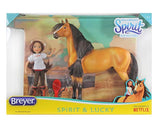 Breyer Spirit and Lucky - 1:12 Scale Set with Hair Brush at Triple Mountain