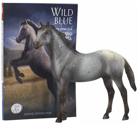 Breyer's Wild Blue Model Horse and Book Set at Triple Mountain