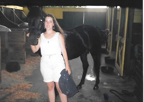Walter Farley's real black stallion Magic with Eleda from Triple Mountain