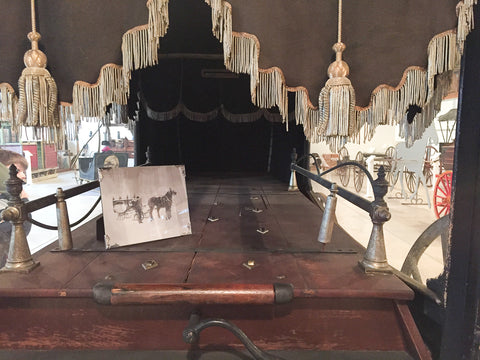 Horse-Drawn Hearse Interior at Skyline Farm Museum